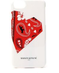 Maison Kitsuné - Paisley Print Iphone 8 Case - Lyst