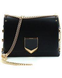 Jimmy Choo - Petite Lockett Leather Shoulder Bag - Lyst