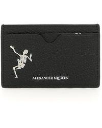 Alexander McQueen - Dancing Skeleton Cardholder - Lyst