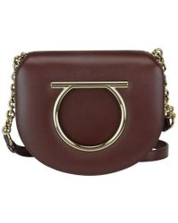 Ferragamo - Flap Saddle Bag - Lyst