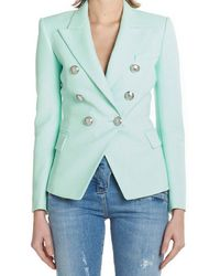 Balmain - Button-embellished Blazer - Lyst