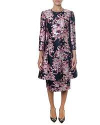 Dolce & Gabbana - Jacquard Tailored Coat - Lyst