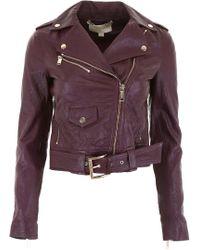 MICHAEL Michael Kors - Biker Leather Jacket - Lyst