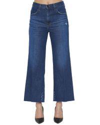 422ceff60970 J Brand Women s Joan High Rise Crop Jeans in Black - Lyst