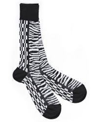 Haider Ackermann - Monochrome Printed Socks - Lyst