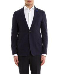 Lardini - Blue Cotton Blazer - Lyst