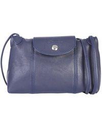 Longchamp - Le Pliage Cuir Crossbody Bag - Lyst