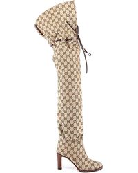 Gucci - GG Over The Knee Boots - Lyst