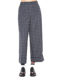 Thom Browne - Check Loose Fit Trousers - Lyst