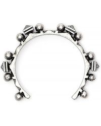 Saint Laurent - Brass Textured Bracelet - Lyst