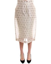 Max Mara - Printed Pencil Skirt - Lyst
