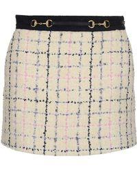 19973fcff0 Balenciaga Tweed-jacquard Mini Skirt in Black - Lyst