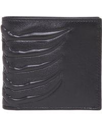 Alexander McQueen - Ribcage Embossed Wallet - Lyst