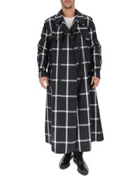 Alexander McQueen - Check Print Belted Trench Coat - Lyst
