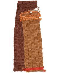 Prada - Contrasting Knitted Scarf - Lyst