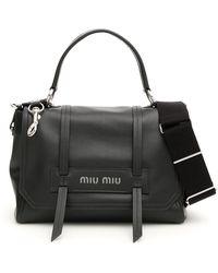 1531b7f331 Miu Miu - Logo Top Handle Tote Bag - Lyst