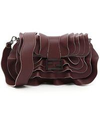 Fendi - Ruffled Baguette Shoulder Bag - Lyst