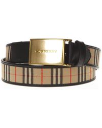 Burberry - Buckle Checked Belt - Lyst
