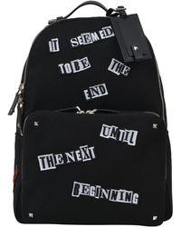 Valentino - Garavani Appliqué Slogan Backpack - Lyst