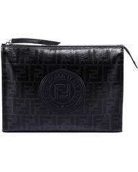 Fendi - Round Logo Clutch Bag - Lyst