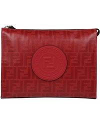 Fendi - Logo Monogram Clutch Bag - Lyst