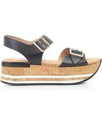 Hogan - Platform Buckle Strap Sandals - Lyst
