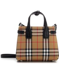 176815fad7 Burberry Banner Tote Bag in Red - Lyst