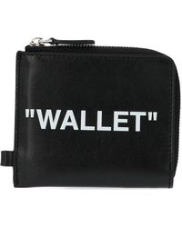 Off-White c/o Virgil Abloh - Zipped Chain Quote Wallet - Lyst