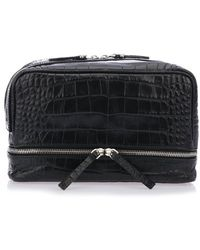 Neil Barrett - Croc Effect Zip Makeup Bag - Lyst