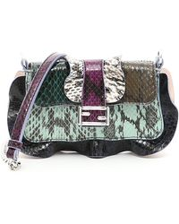 Lyst - Fendi 3 Baguette Stud-Embellished Cross-Body Bag 5bc91e6d34ec6