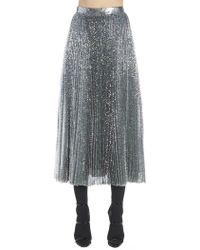 MSGM - Pleated Maxi Skirt - Lyst