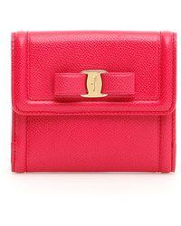 Ferragamo - Vara Bow French Wallet - Lyst