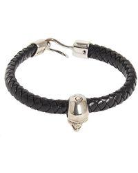 Alexander McQueen - Woven Leather Bracelet - Lyst