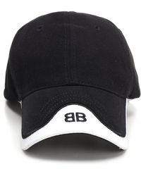 eb18975ad24 Balenciaga Logo-embroidered Cotton Cap in Black for Men - Lyst