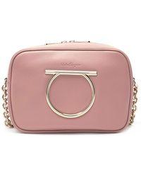 5070271fcdf Ferragamo Medium Vela Calfskin Shoulder Bag in Pink - Save ...