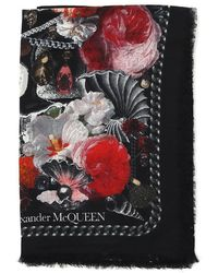 Alexander McQueen - Shell Printed Scarf - Lyst