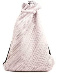 Pleats Please Issey Miyake - Suede Link Drawstring Backpack - Lyst