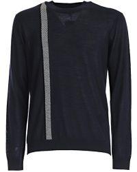 Giorgio Armani - Striped Roundneck Sweatshirt - Lyst