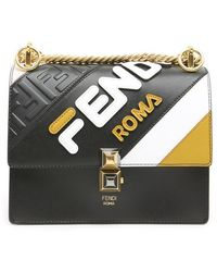 Fendi - Kan Roma Mania Small Shoulder Bag - Lyst