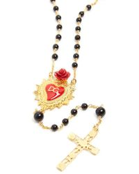 Dolce & Gabbana - Rosario Sacred Heart Necklace - Lyst