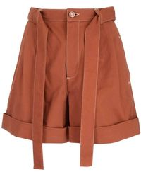 See By Chloé - High Waisted Shorts - Lyst