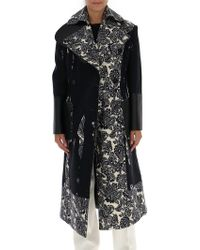 Alexander McQueen - Paisley Print Cady Crepe Double Breasted Coat - Lyst