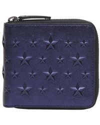 Jimmy Choo - Lawrence Star Studded Wallets - Lyst