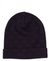 Gucci Gg Jacquard Hat in Blue for Men - Lyst e5f3ad6f71a9
