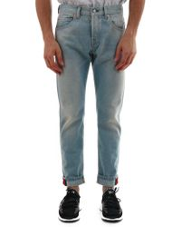 Gucci - Tapered Denim Jeans - Lyst