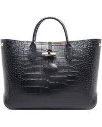 7e58bee112e9 Longchamp - Roseau Crocodile S Tote Bag - Lyst