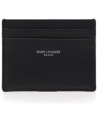 Saint Laurent - Black East/west Card Holder - Lyst