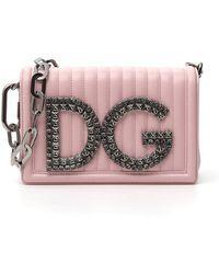 Lyst - Dolce   Gabbana Mini Box Shoulder Bag in Pink 9a81e221dbf65