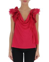 Givenchy - Frill Shoulder Blouse - Lyst