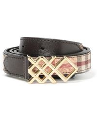 Burberry - House Check Embellished Buckle Belt - Lyst
